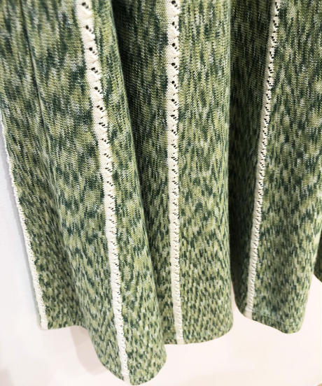 <SAMPLE SALE> 絣糸ニットフレアスカート (light green)