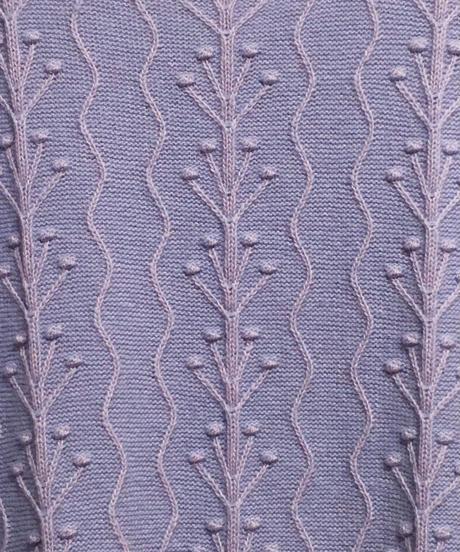 植物のケーブルニットベスト (lilac)