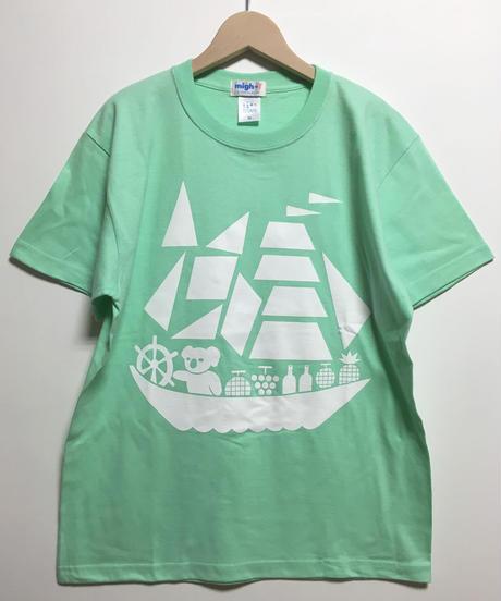 コアラ船プリントTシャツ  (melon)