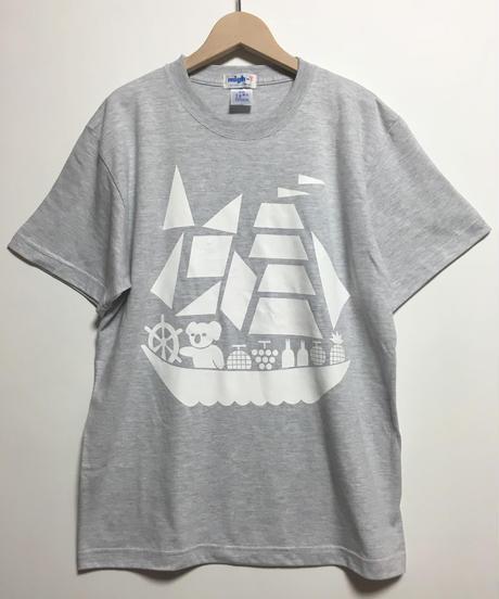 コアラ船プリントTシャツ  (grey)
