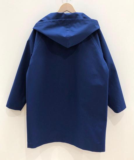 刺繍モチーフ付きドローストリングフードジャケット (ultramarine)
