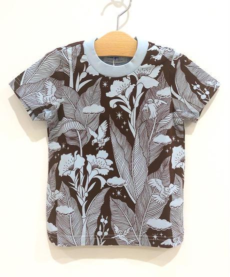 カンナの花キッズTシャツ (brown)