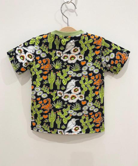サボテンプリントベビーTシャツ (black)