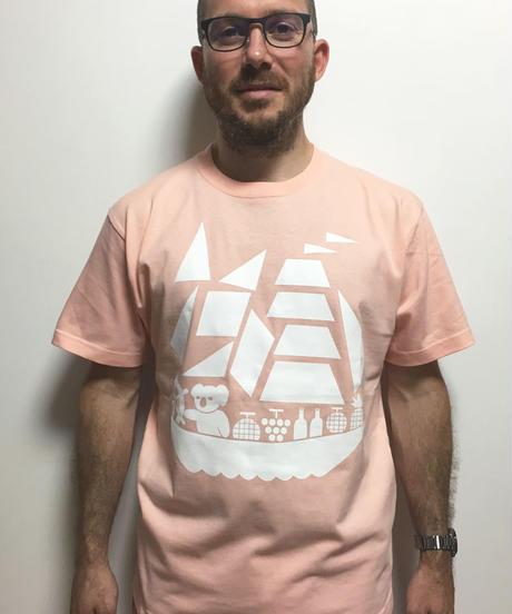 コアラ船プリントTシャツ  (apricot)