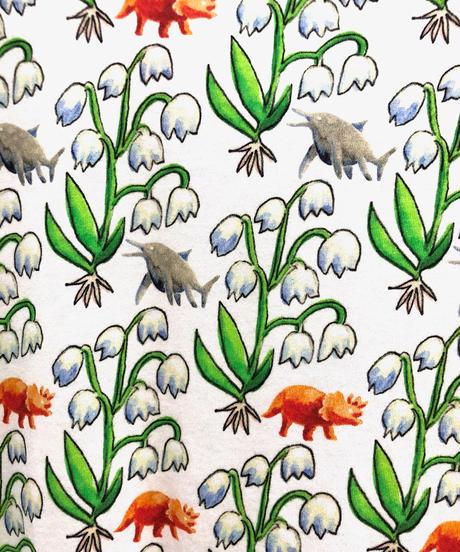 スズラン恐竜プリントカットソーワンピース