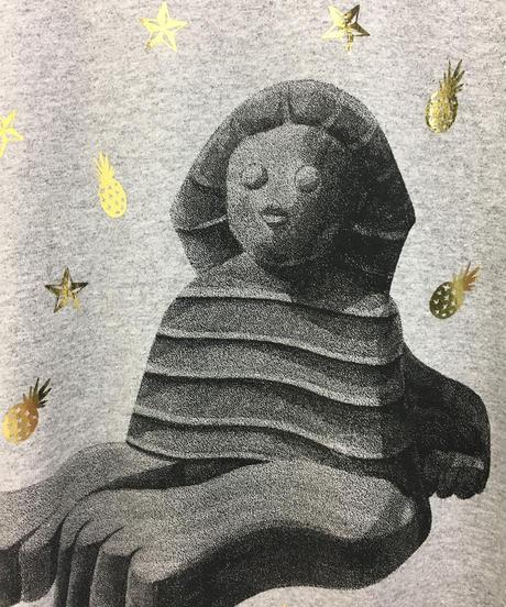 スフィンクスリンガーTシャツ (grey- red)
