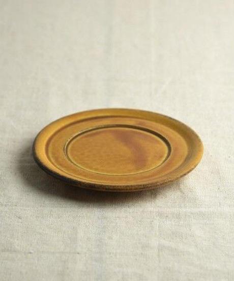 12cmミニプレート(兼ソーサー) カラメルブラウン
