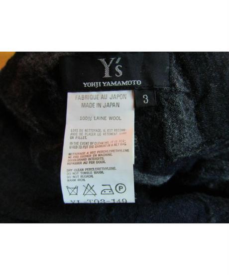 Y's yohji yamamoto femme パッチワーク縮絨デザインニット