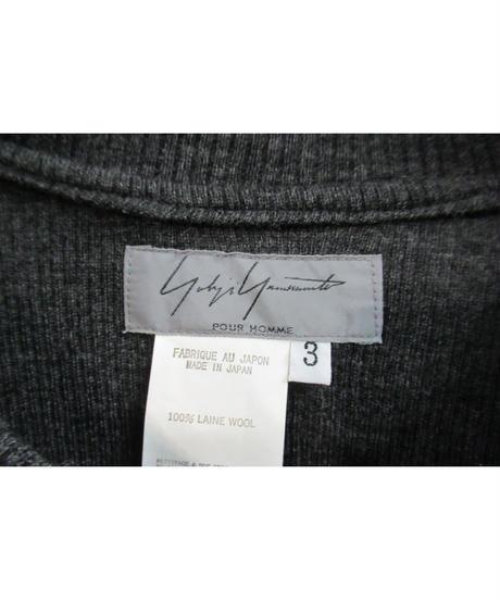 美品 03aw yohji yamamoto pour homme 襟デザイングレーニット HU-T32-922