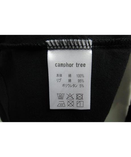 camphor tree 黒  ロングタートルネックデザインカットソー S size