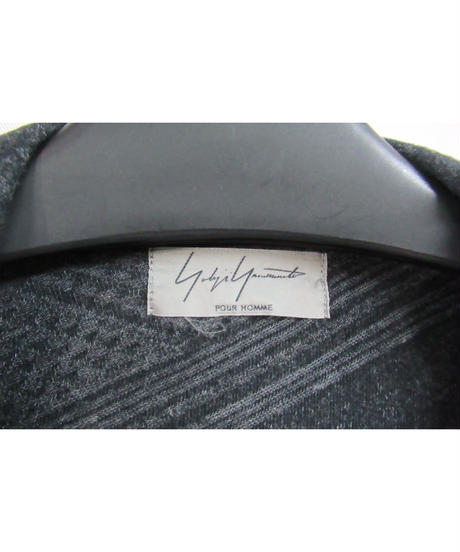 レア 13ss yohji yamamoto pour homme デザインプリントロングカットソージャケット