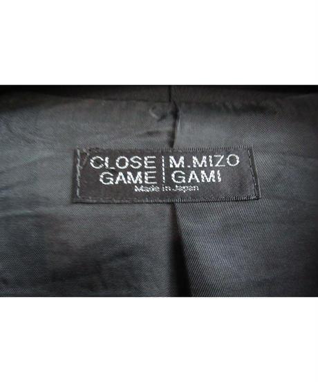 CLOSE GAME MASAYUKI MIZOGAMI 一つ掛け釦 ロングジャケット