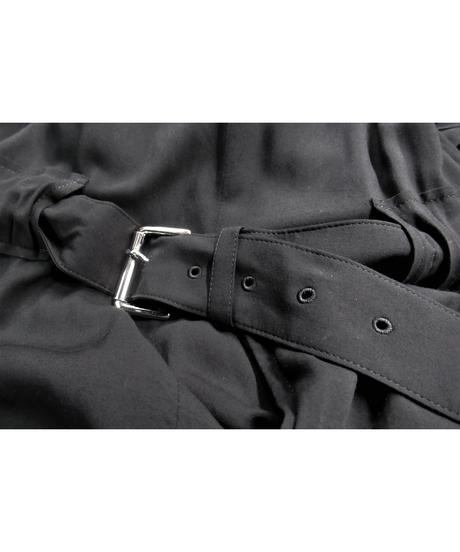 07ss yohji yamamoto +noir ベルトデザインアシメトリーワンピース NT-D04-223
