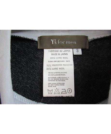 Y's for men yohji yamamoto グレー ハイネックデザインニット ML-T17-162
