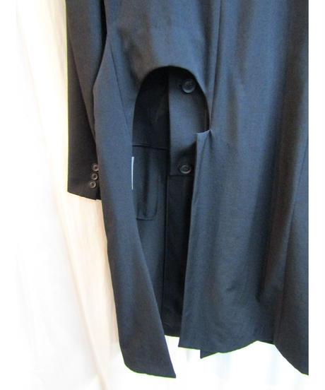 未使用 19ss yohji yamamoto pour homme カッティングデザインロングジャケット HH-J11-100