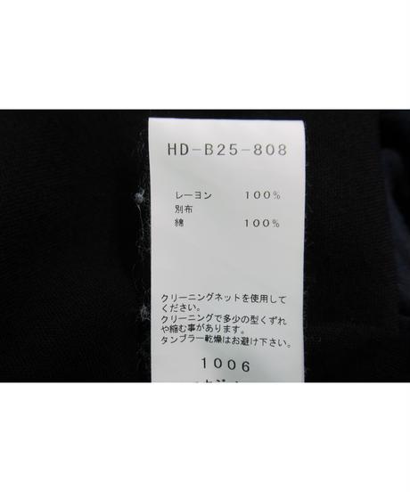 17ss yohji yamamoto pour homme ノーカラー 素材切り替えデザインブラウス HD-B25-808