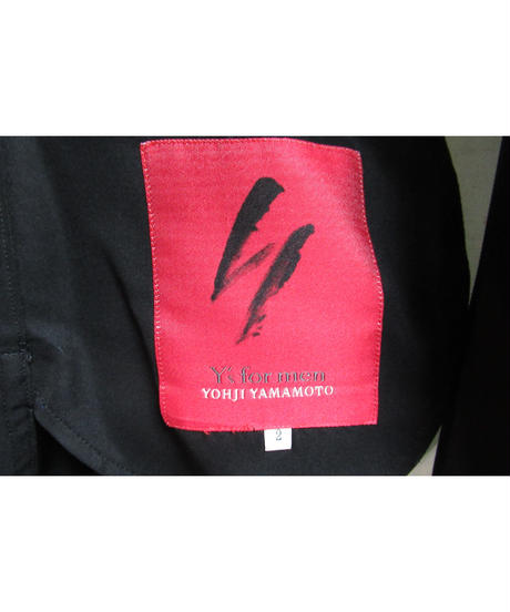 Y's for men yohji yamamoto 赤タグ スタンドカラーシンプルジャケット ME-J57-454
