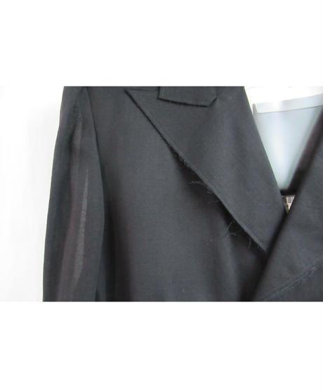 新品 09ss yohji yamamoto +noir 黒 デザイン変形ショートジャケット NV-J05-007