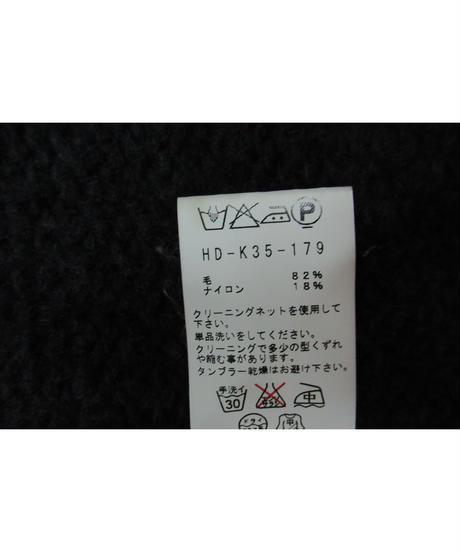 12aw yohji yamamoto pour homme グレースナップ釦フード ベルト付きロングニット