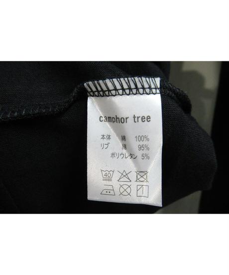 camphor tree 黒  裾レイヤードデザインカットソー M size