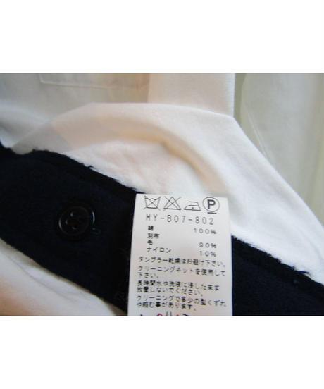 15aw yohji yamamoto pour homme 3枚襟デザインブラウス