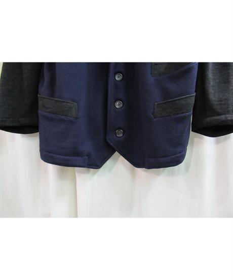 80's yohji yamamoto pour homme vintage 切替えニットジャケット