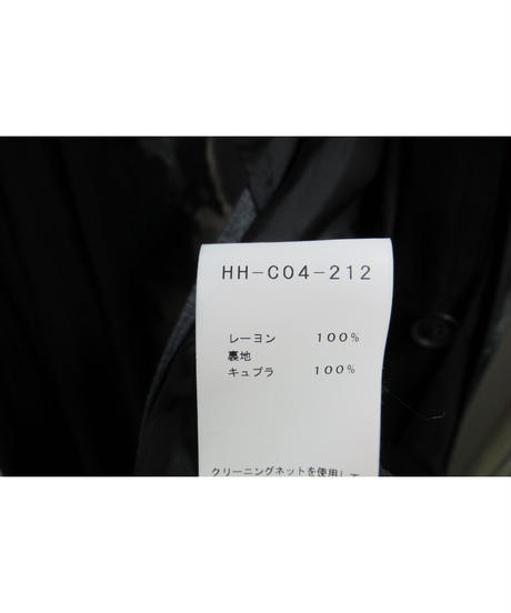 19ss yohji yamamoto pour homme プリント レーヨンマント HH-C04-212
