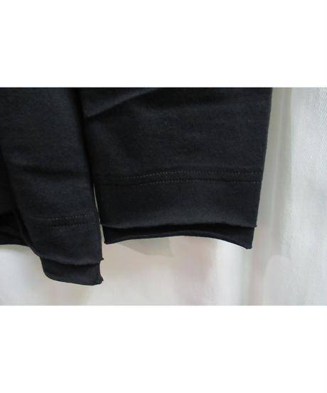 camphor tree 黒  裾レイヤードデザインカットソー S size