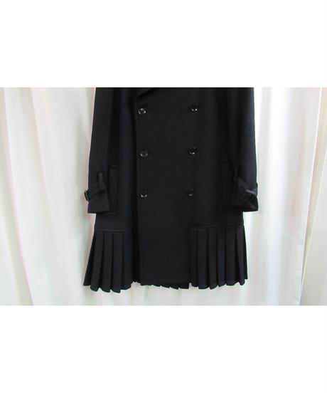 yohji yamamoto +noir 裾プリーツデザインハーフコート NP-C02-106