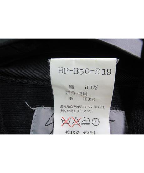 93aw yohji yamamoto pour homme vintage 黒 切替えデザインブラウス HP-B50-819