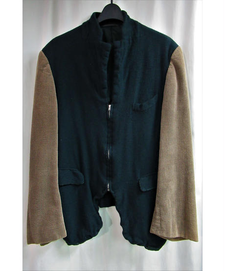 AD1994 COMME des GARCONS HOMME PLUS 縮絨 フロントジッパー 切替コーデュロイジャケット④