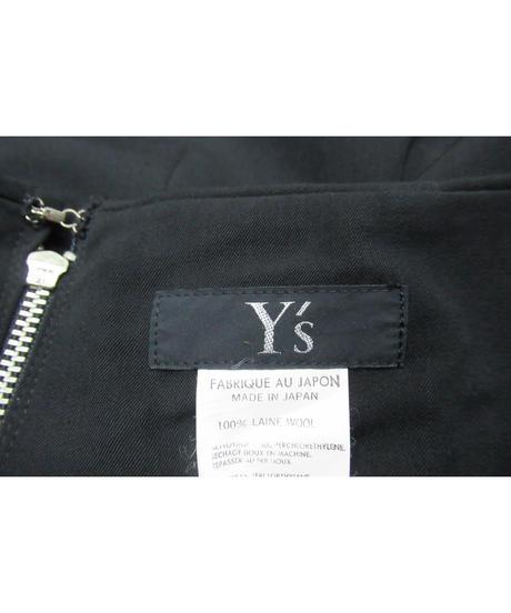 90's Y's yohji yamamoto vintage タック入りシンプルフレアスカート YE-S03-100