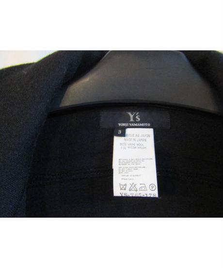 Y's yohji yamamoto 素材切替ハーフコート YS-T65-178