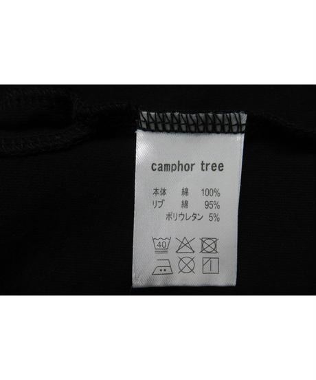 camphor tree 黒 襟切替えデザインTシャツ