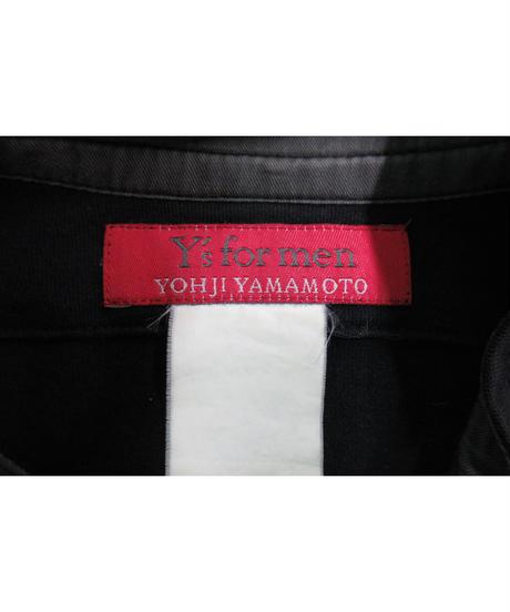 Y's for men yohji yamamoto 赤タグ スタンドカラーカットソーカーディガン MC-5