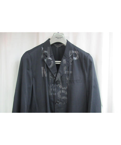 AD2001 COMME des GARCONS HOMME PLUS 黒 顔料 ロゴプリントセットアップ