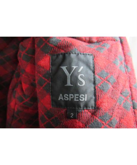 美品 Y's × ASPESI yohji yamamoto ベスト離脱可 シワ化工ジャケット MX-J90-910