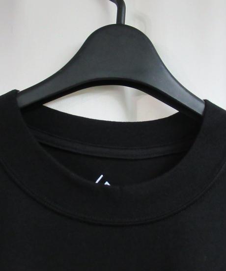 camphor tree 黒  袖リブデザインカットソー M size