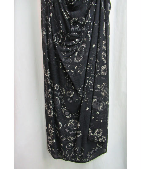 90's yohji yamamoto femme vintage 花柄プリントデザインワンピース  FZ-D83-237