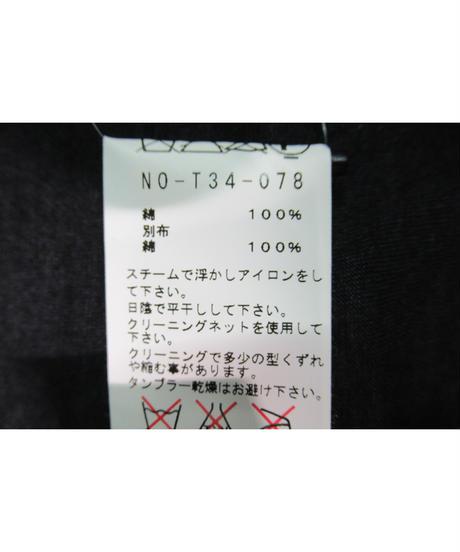 yohji yamamoto +noir ドルマンスリーブ 切替えデザインワンピース NO-T34-078
