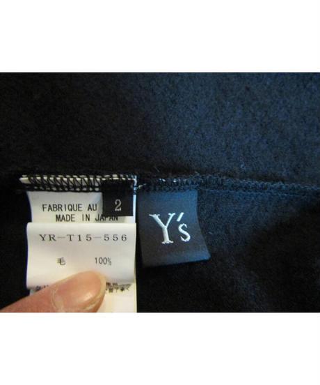 Y's yohji yamamoto 襟デザインアシメトリーカーディガン YR-T15-556