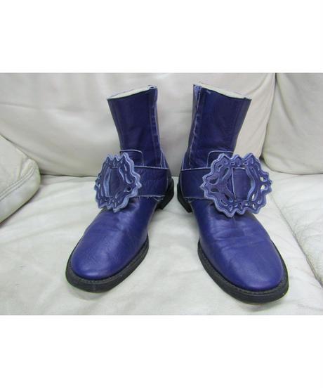 12aw yohji yamamoto POUR HOMME 紫 装飾付きデザインブーツ