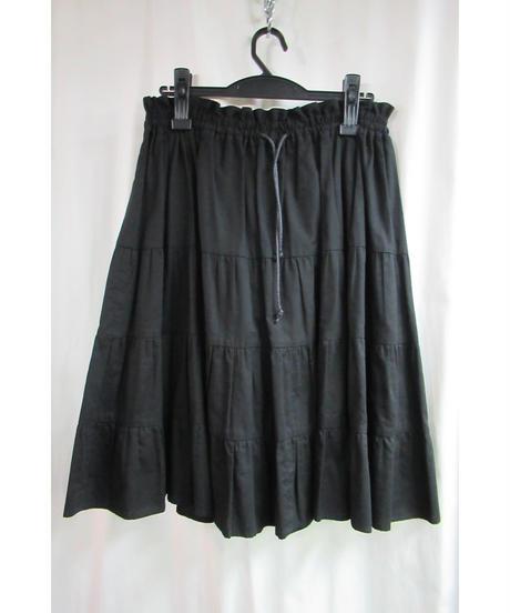 Y's yohji yamamoto ギャザーデザインフレアスカート YR-S11-023
