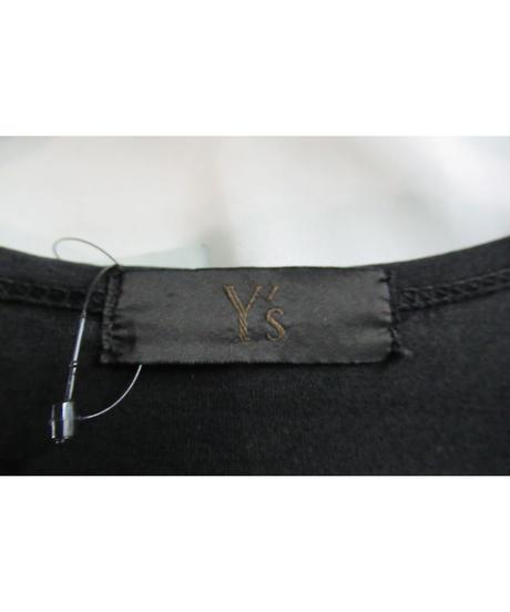 Y's for men yohji yamamoto 黒 ロゴプリントカットソー MX-T96-951