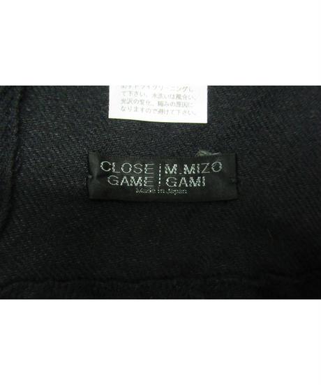 CLOSE GAME MASAYUKI MIZOGAMI 大判 ロングストール  紺