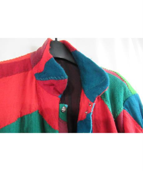 2000AW yohji yamamoto pour homme パッチワークスタンドカラージャケット  HT-J72-903