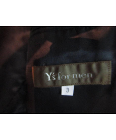 Y's for men yohji yamamoto pour homme 三つボタンシンプルジャケットに