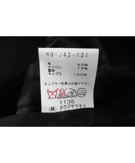 13aw yohji yamamoto pour homme へちま襟 ダブルショートジャケット HQ-J43-131
