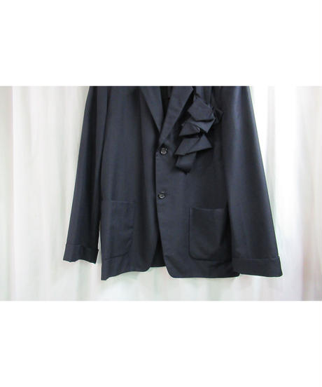 80's yohji yamamoto pour homme vintage 紺 コサージュストライプセットアップ
