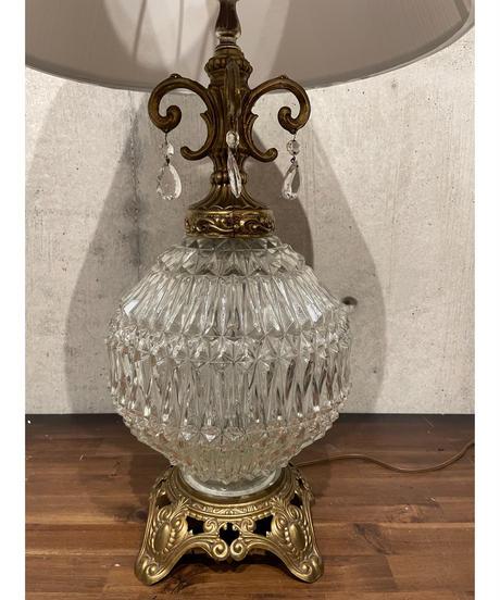 ヴィンテージ クリアガラス テーブルランプ